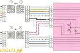 схема подключения блока ЭСП калина