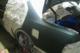 подготовка к покраске крыла автомобиля