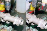 сверлом диаметром 2 мм в торце картера