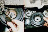 Отвернуть болт крепления шкива привода генератора и снять его
