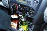 алкоголь в припаркованной машине
