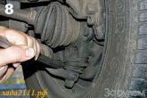 состояние шарнира поворотного кулака подвески