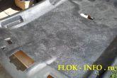 обивка потолка автомобиля после нанесения грунтовки