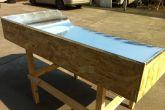 стол для флокирования с большими бортиками