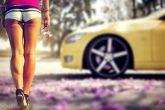 Весна, девушки, машины 2016