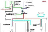доработанная схема подключения второго бачка омывателя