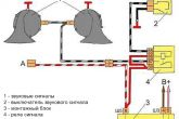схема подключения сигналов от Волги в ВАЗ 2110