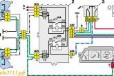схема освещения ВАЗ 2110