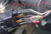 подключение доп.провода к кнопке габаритов ВАЗ 2110