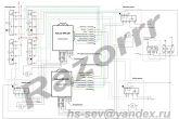 схема подключения модуля управления стеклоподъемниками