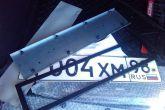 установка антивандальной рамки номерных знаков