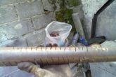 делаем надпилы на трубе