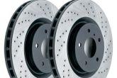 тормозные диски с перфорацией и газоотводами