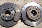 тормозные диски Brembo max и колодки от BMW и штатные диски и колодки ВАЗ