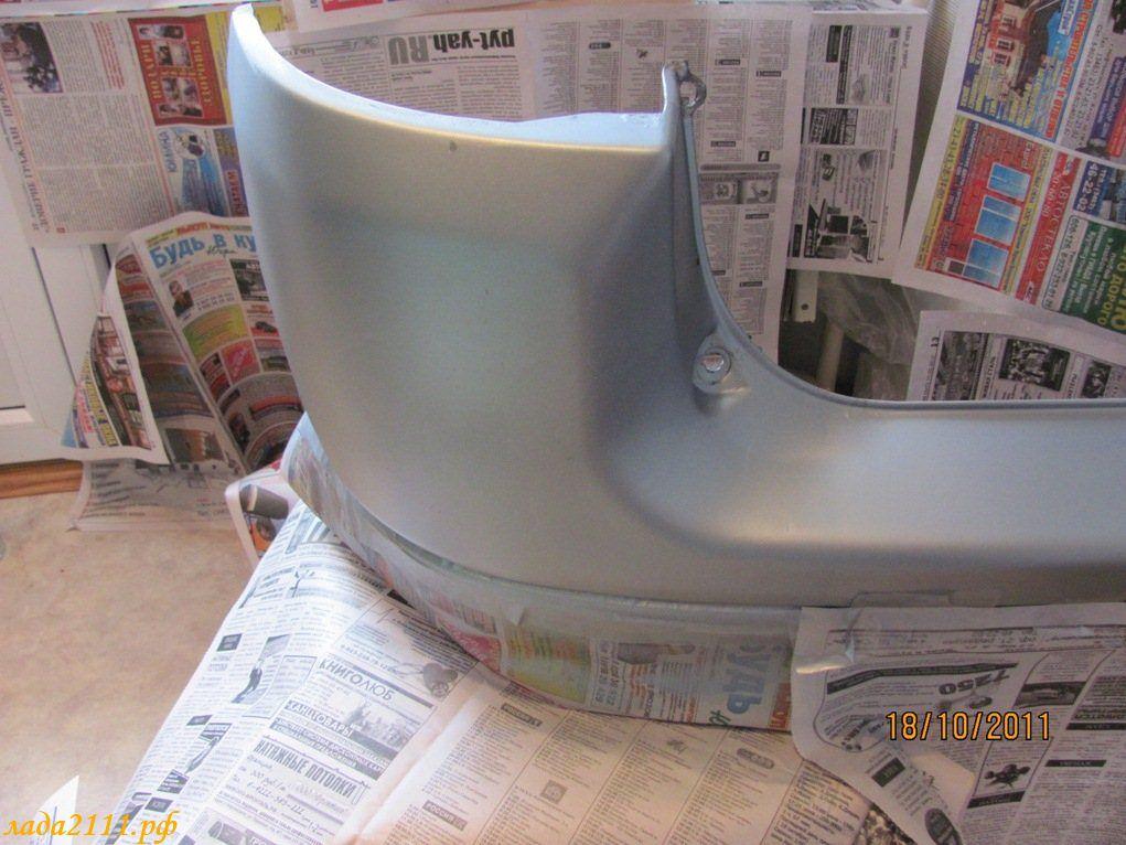 Как покрасить бампер из баллончика своими руками ваз