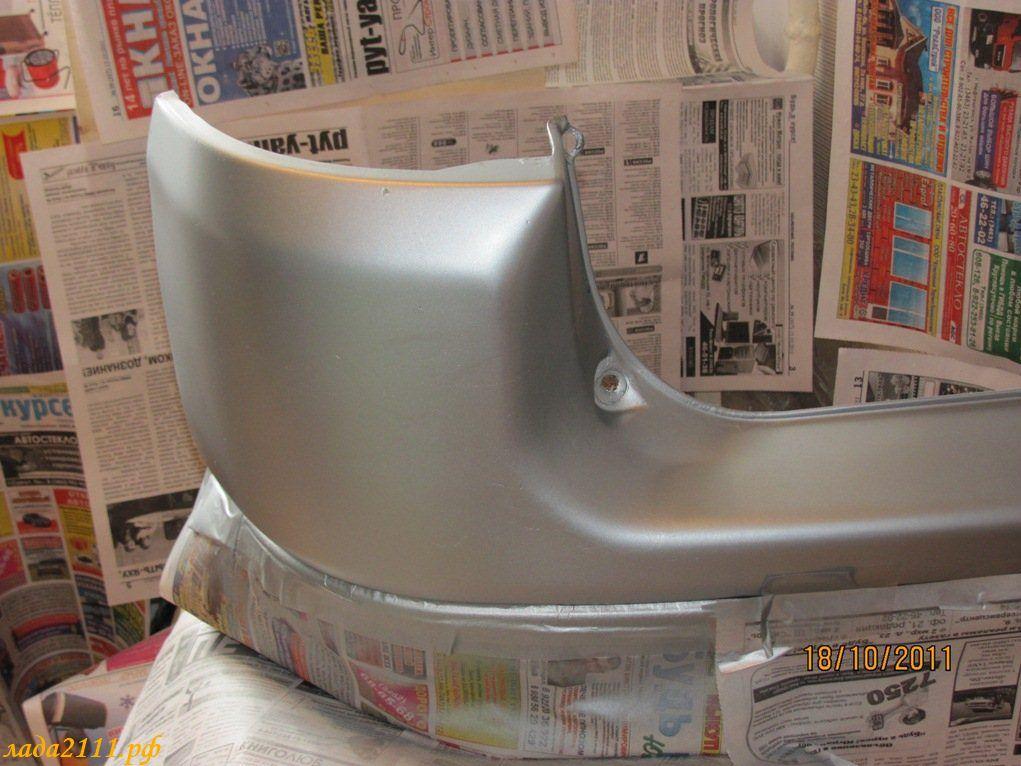 Как покрасить бампер из баллончика своими руками ваз 2110 45
