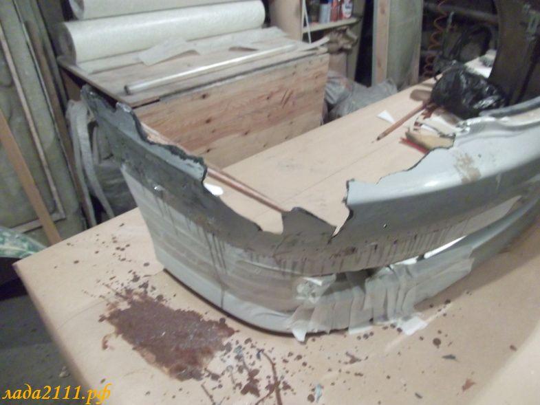 Фото №20 - ремонт бампера ВАЗ 2110 своими руками