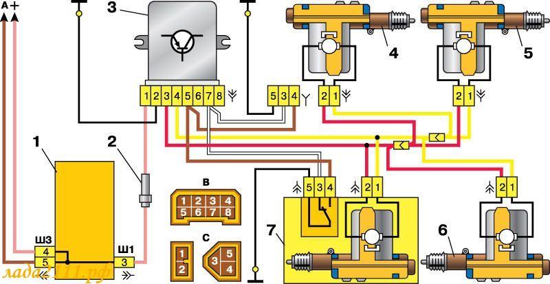 замка) схема подключения