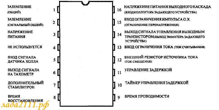 Схема модуля зажигания состоит