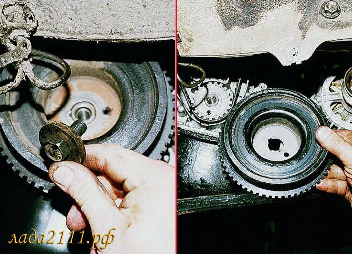 Фото №19 - как открутить болт шкива коленвала ВАЗ 2110