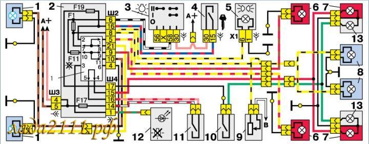 Схема заднего хода ВАЗ 2110