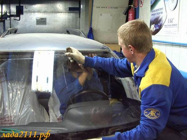 Фото №16 - замена лобового стекла ВАЗ 2110 своими руками
