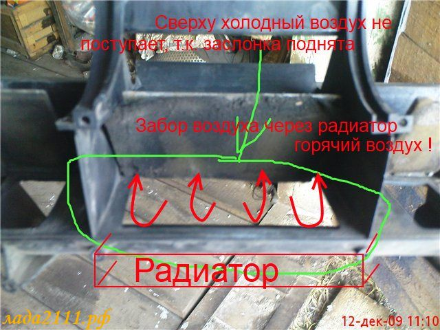 радиатора печки ВАЗ 2110