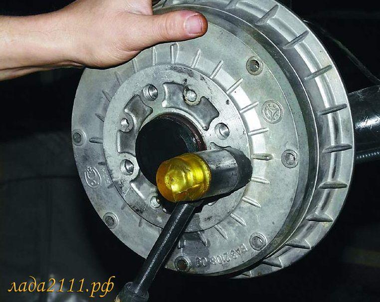 Как снять тормозной барабан с ваз 2110