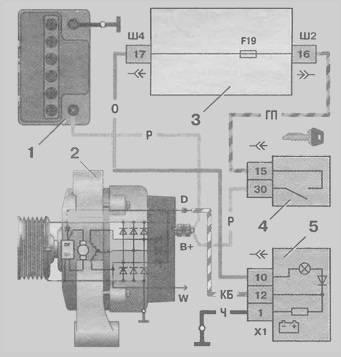 1 - аккумуляторная батарея