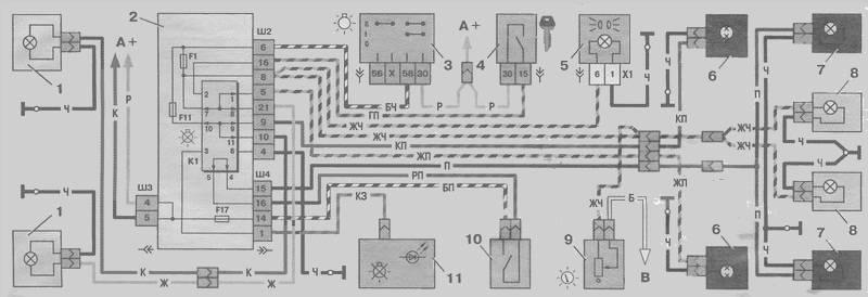 Электрическая схема ВАЗ 2110 3