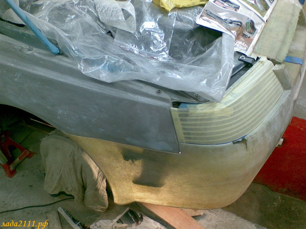 Фото №5 - ремонт бампера 2110 своими руками