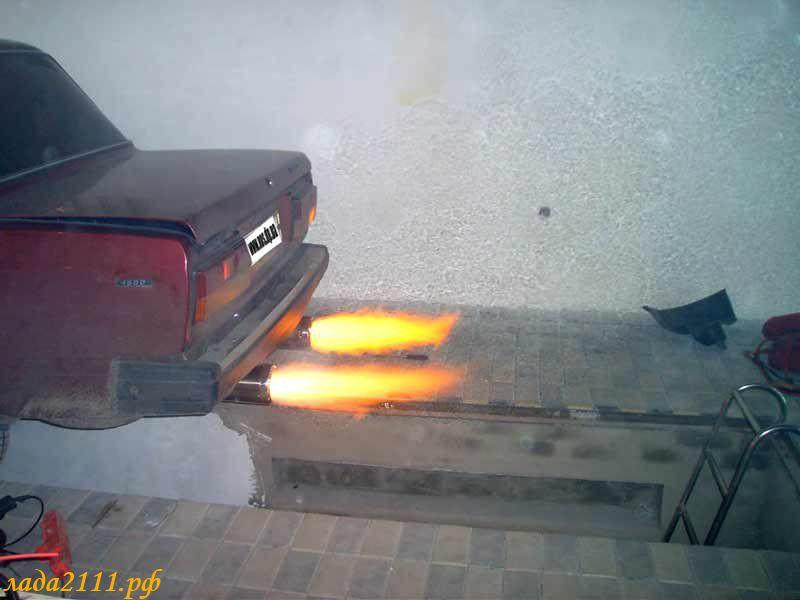 Огонь из выхлопной трубы как сделать