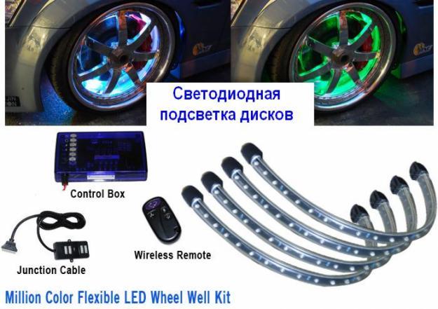 Как сделать подсветку колес мотоцикла