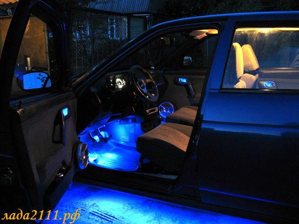 Подсветка салона 2110 своими руками фото