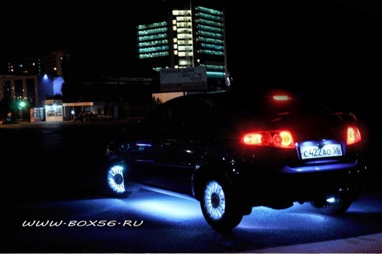 Светодиодная подсветка днища автомобиля своими руками