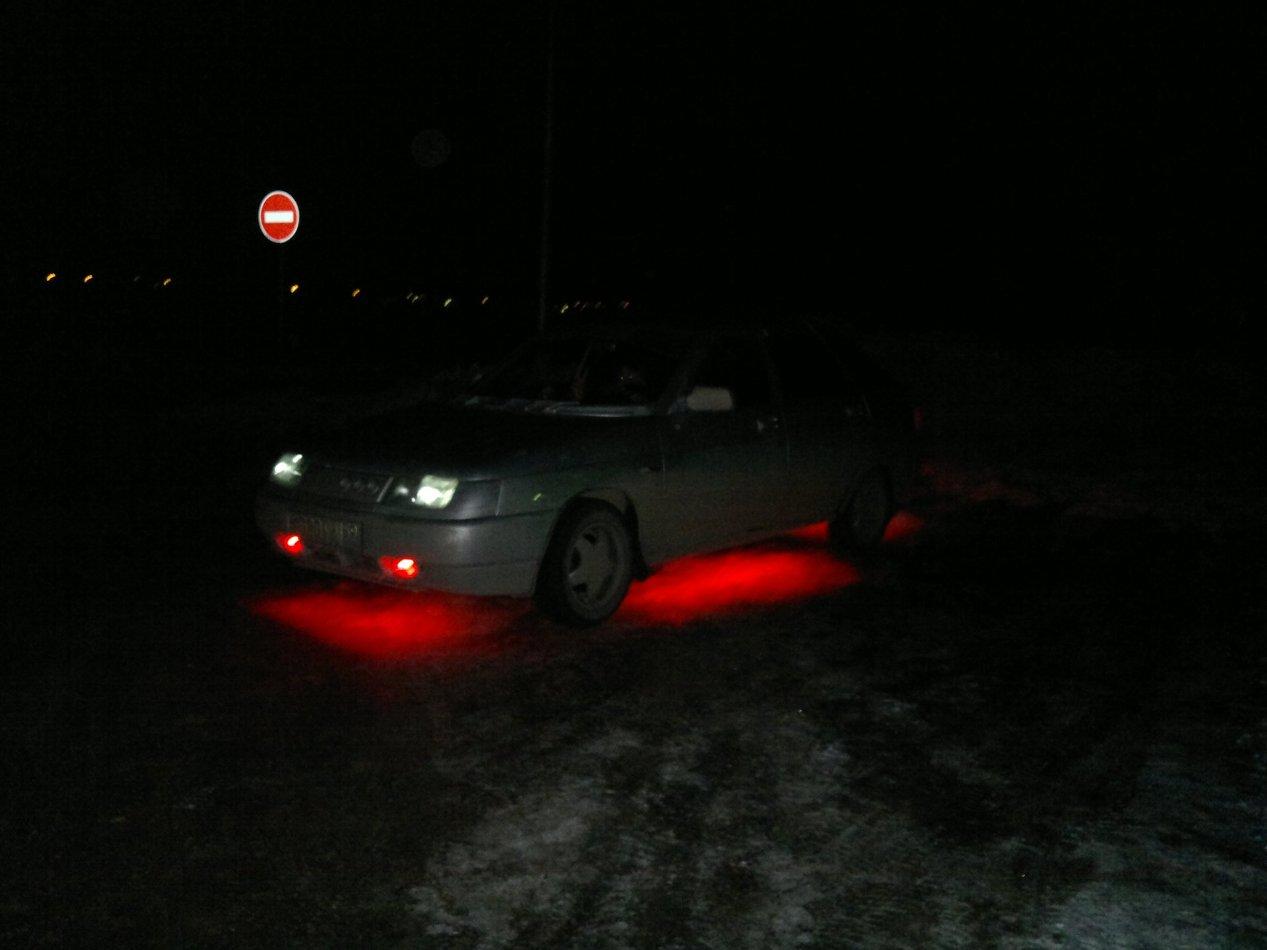 Подсветка на дно автомобиля своими руками