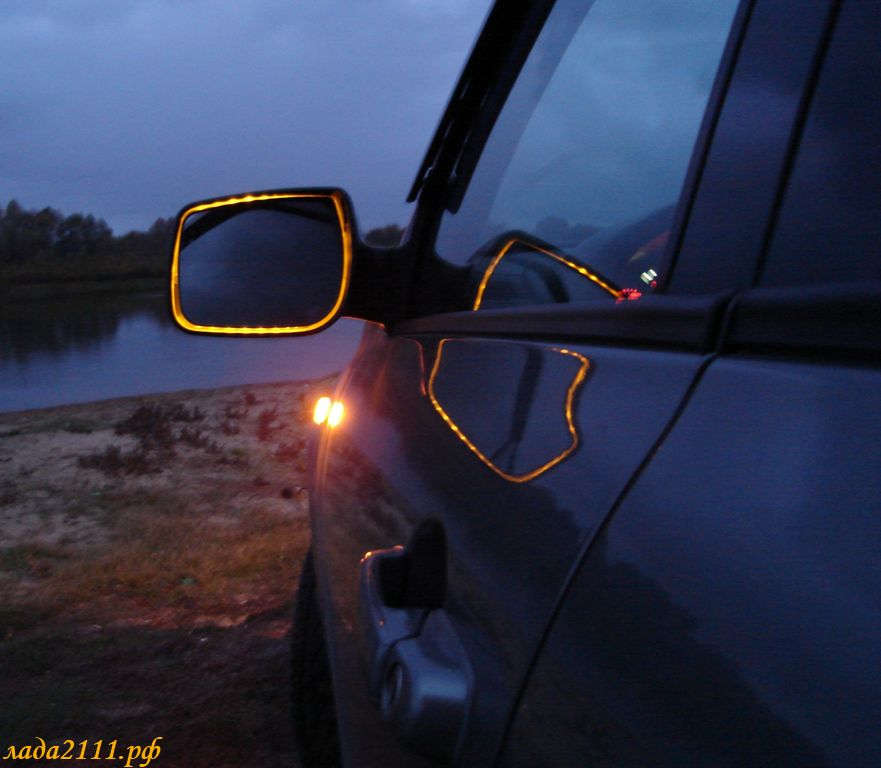 Поворотники в зеркала заднего вида ВАЗ 2110 39