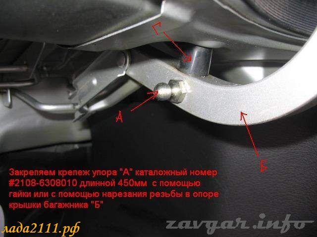 Газовый амортизатор багажника