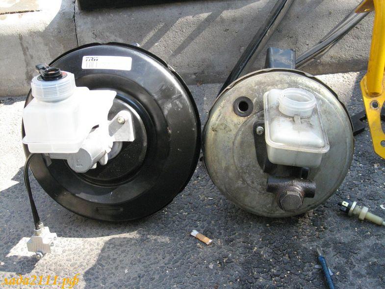 Установка 10 дюймового вакуумного усилителя тормозов на ВАЗ 2110