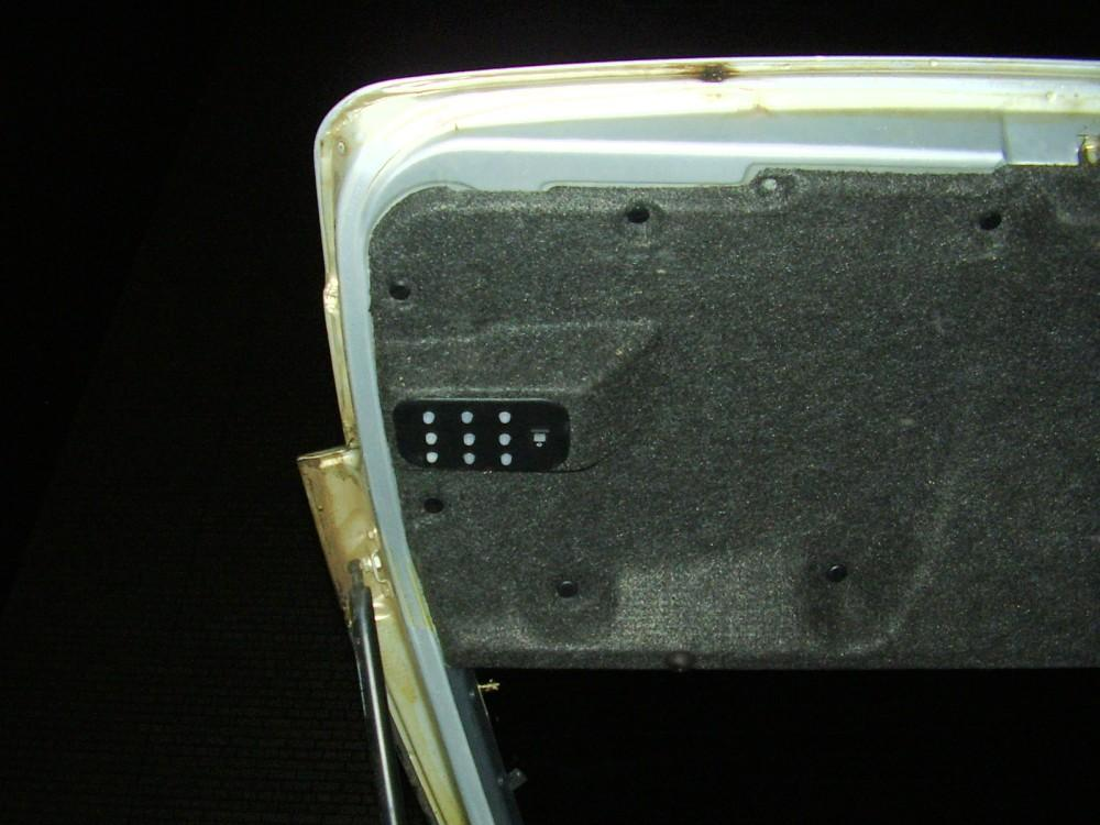 Подсветка багажника ваз
