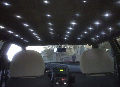 Как сделать звездный потолок в машине своими руками 73