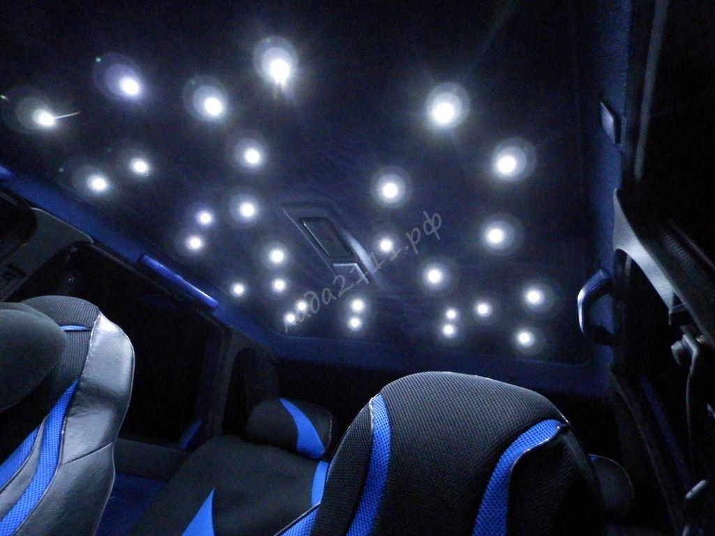 Как сделать звездный потолок в машине своими руками