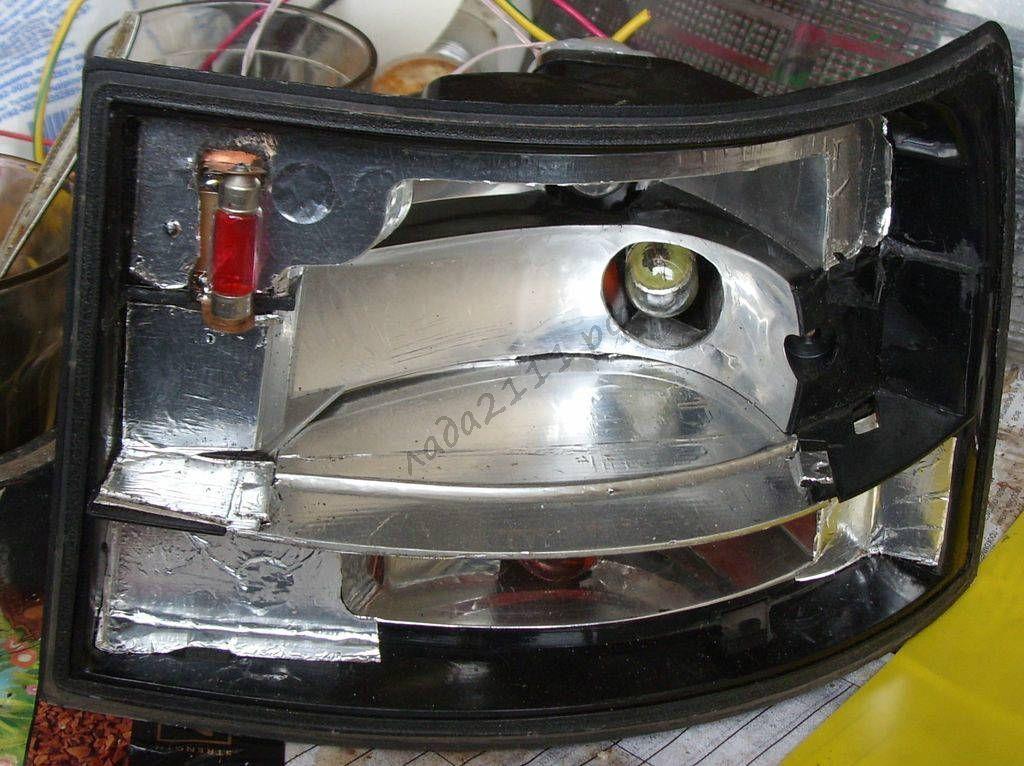 Тюнинг задних фонарей ваз 2111 своими руками 54