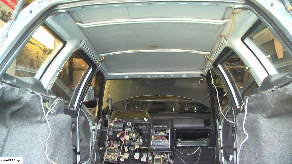 Разборка потолка ВАЗ 2111