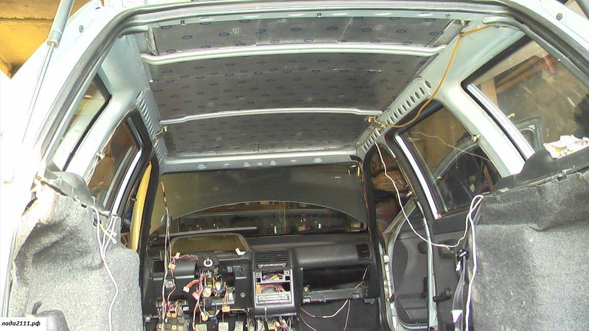 Как проклеить машину шумоизоляцией своими руками приора двери 45