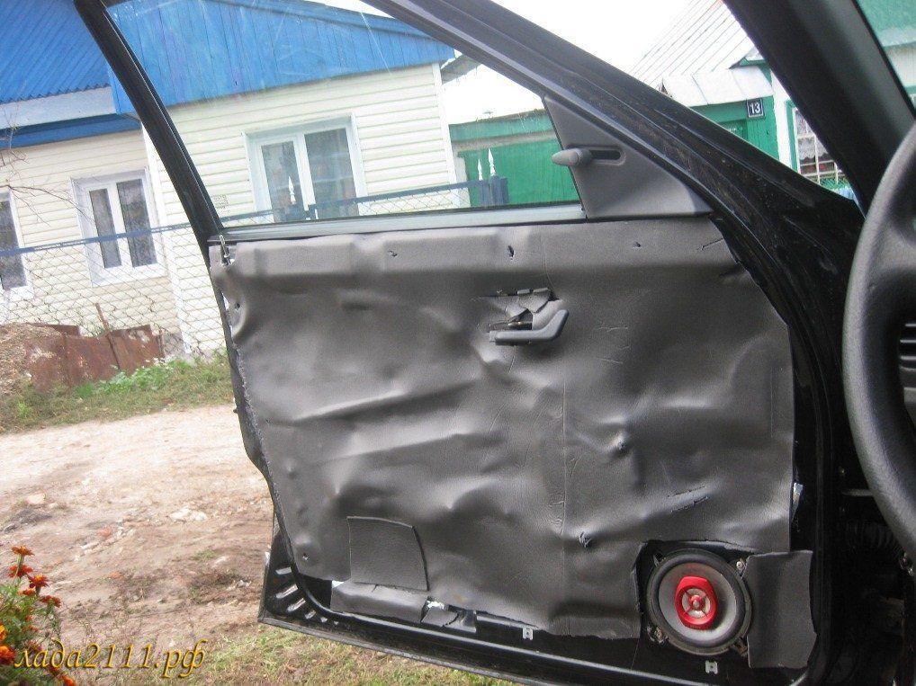 Шумоизоляция авто двери своими руками 39