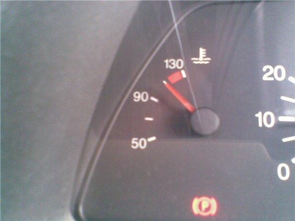 быстрой езде температура