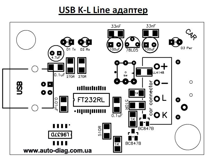 Usb k line адаптер своими руками