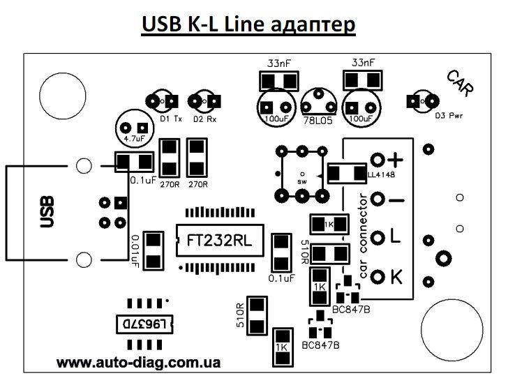 Скачать usb k l line адаптер