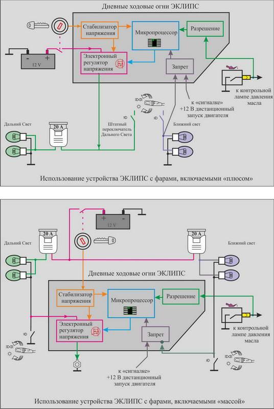 схема плавного включения и выключения ламп - Исскуство схемотехники.